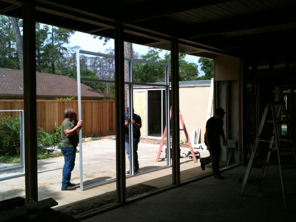 New Glass Windows Store Front Mid Century Modern Houston
