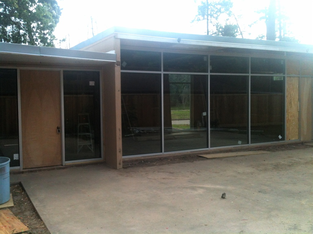 ^ New Glass Windows! Store Front! - Mid entury Modern Houston